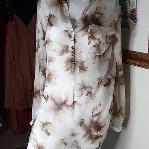 Cassis sheer silk shirt